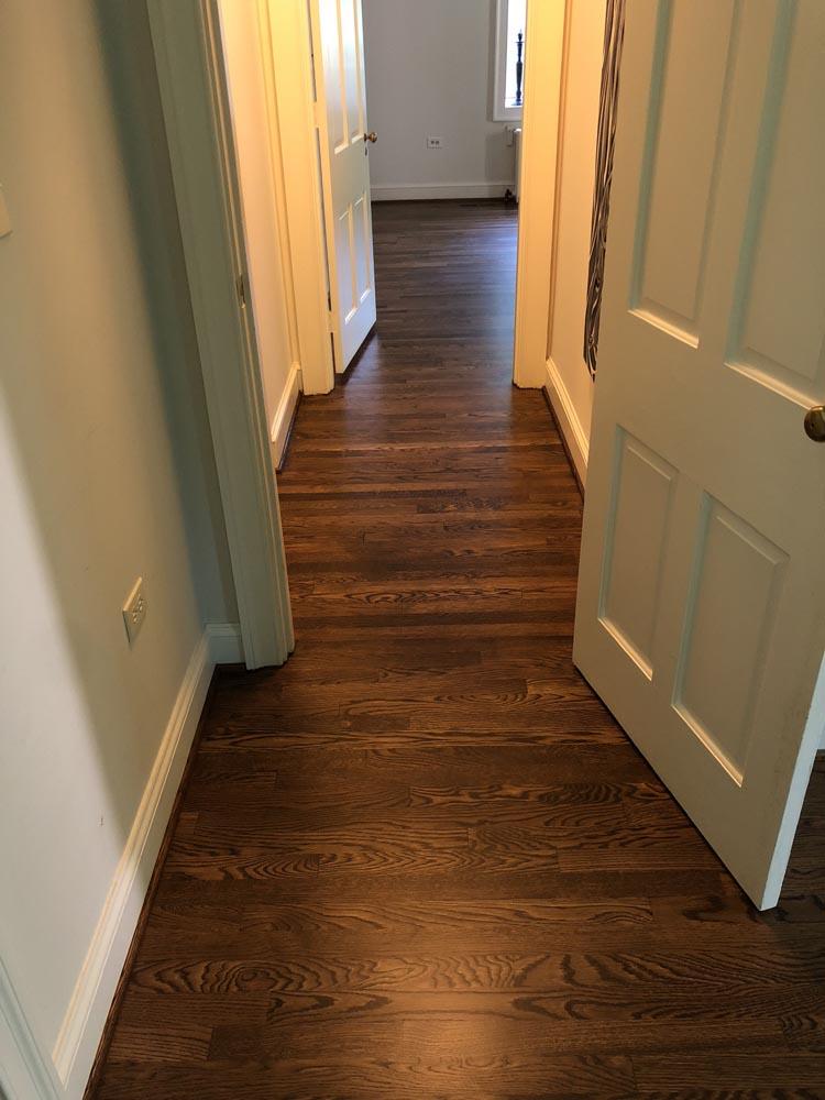 hardwood floor stairway