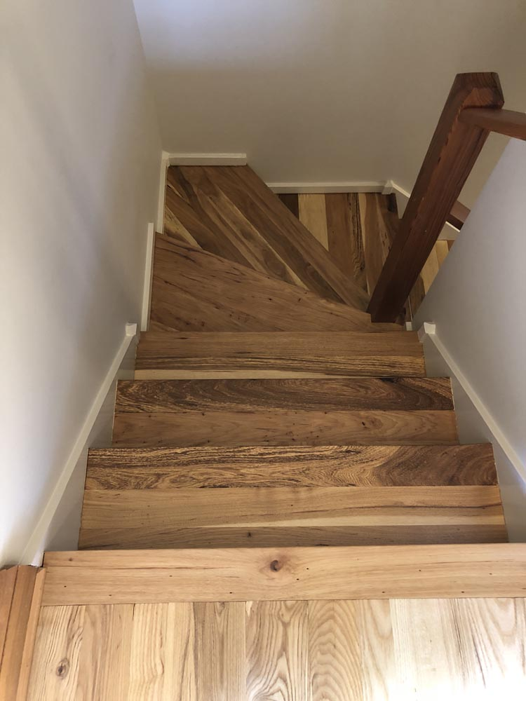 hardwood floor staircase