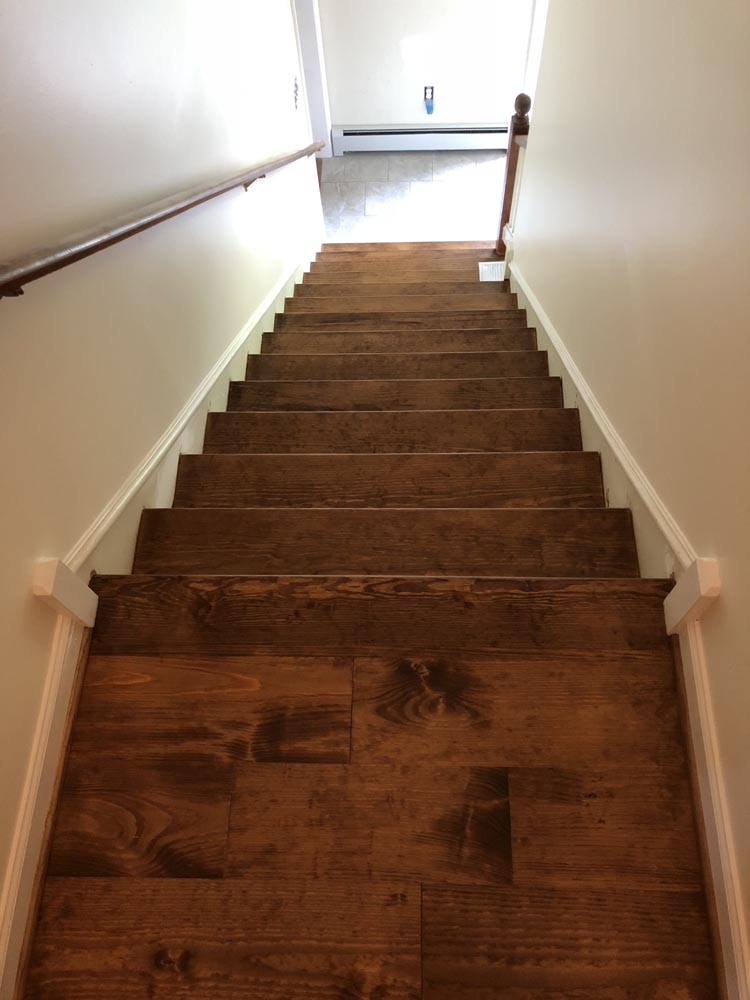 dirty wood stairs